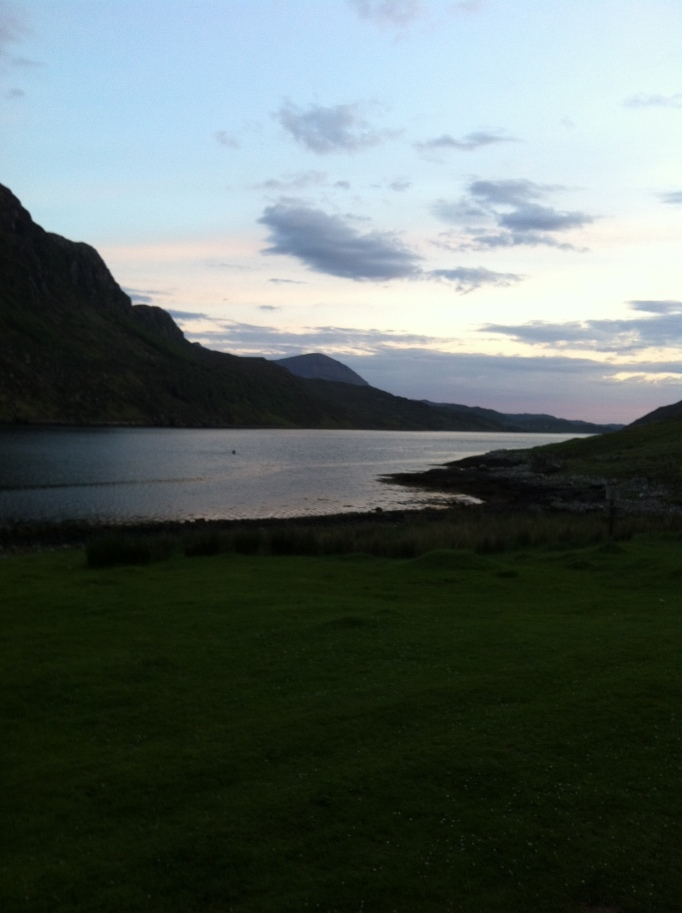The magnificent view from Glendhu.  It was getting dark at this point.