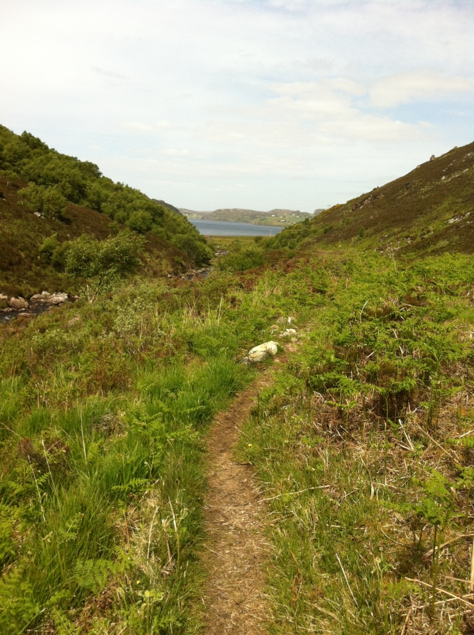 The path got loads better and the skies cleared as we approach Rhiconich