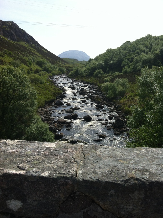 View from Rhiconich Bridge back towards Arkle