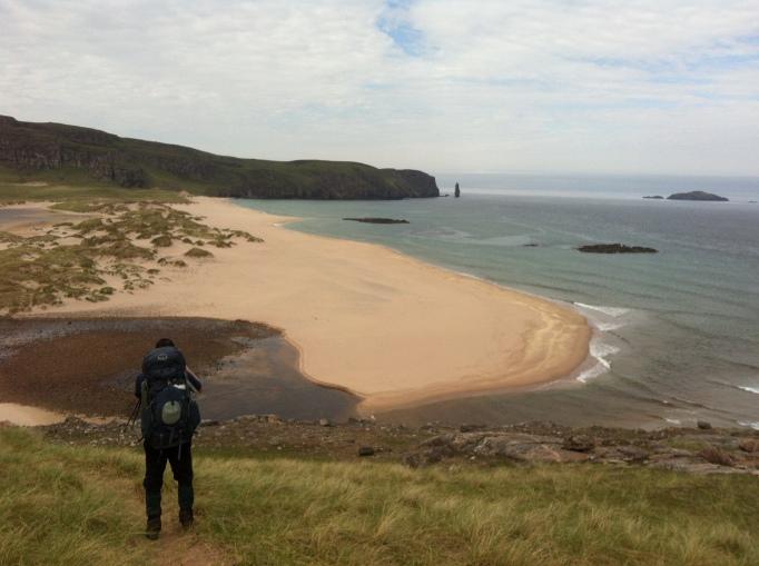 Looking back to Sandwood Bay as we left it behind