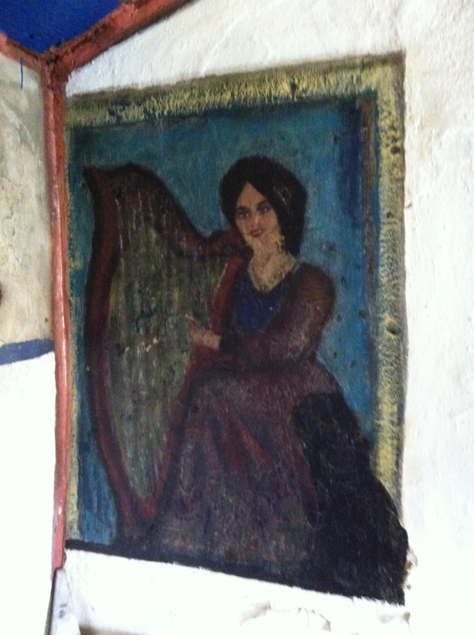 One of the paintings inside the bothy