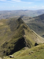 View back down to Striding Edge
