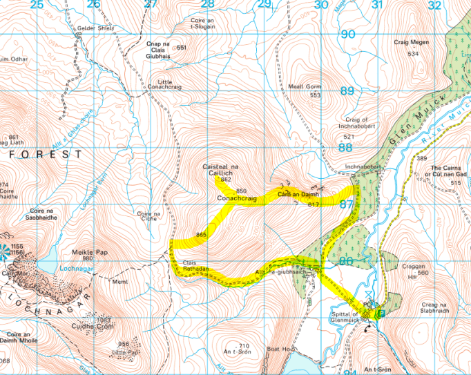 Conachcraig map