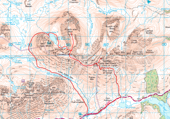 Beinn Eighe map