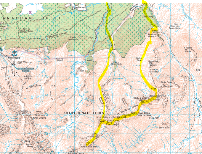 Grey Corries route