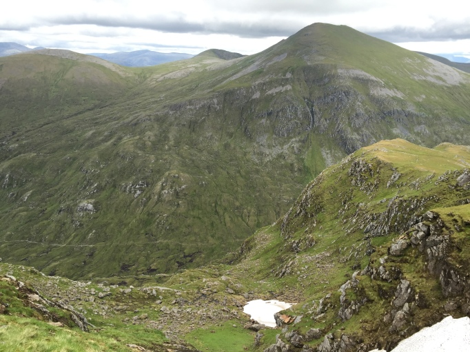 Looking back to the rest of the Fannichs range - Sgurr nan Clach Geala