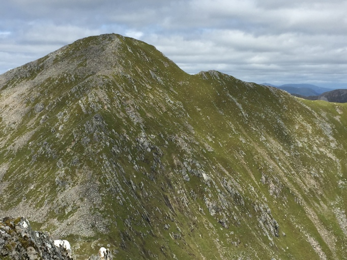 Looking up to the final Munro of Sgurr Fhuaran