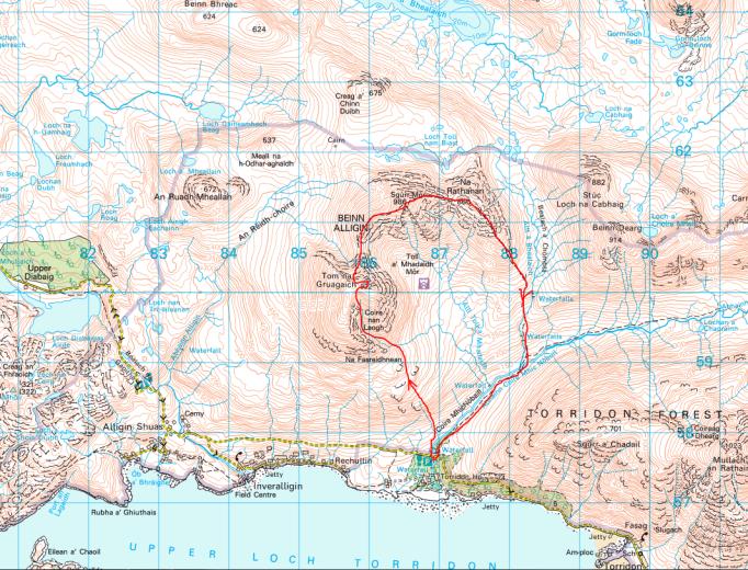Alligin map