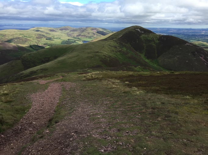 Looking back to Carnethy Hill