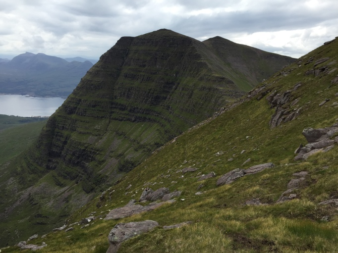Looking up to Sgurr Mor