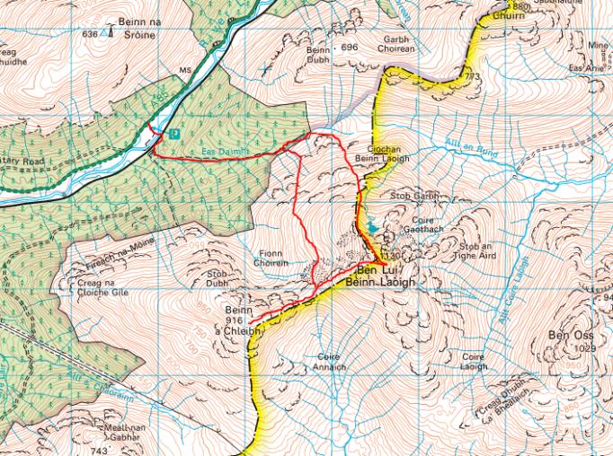 Ben Lui map