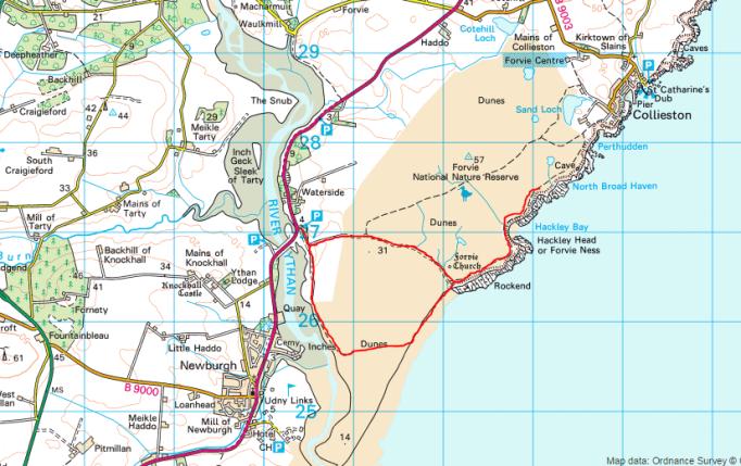 Forvie map