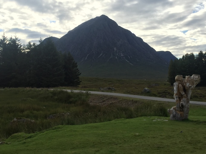 View up to the Buachaille from the Kingshouse